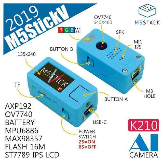 M5StickV ボタン構成
